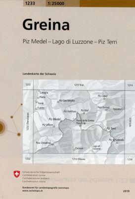 Landeskarte der Schweiz Greina