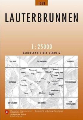 Landeskarte der Schweiz Lauterbrunnen