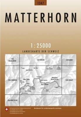 Landeskarte der Schweiz Matterhorn / Monte Cervino
