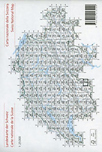 Landeskarte der Schweiz Saas - Produktdetailbild 1