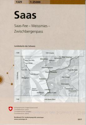 Landeskarte der Schweiz Saas