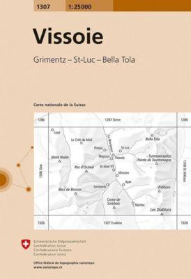 Landeskarte der Schweiz Vissoie