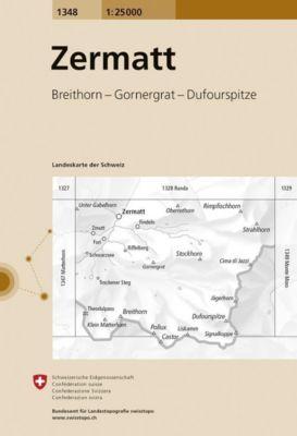 Landeskarte der Schweiz Zermatt