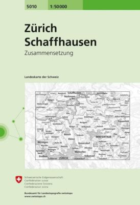 Landeskarte der Schweiz Zürich / Schaffhausen