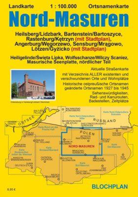 Landkarte Nord-Masuren, Dirk Bloch