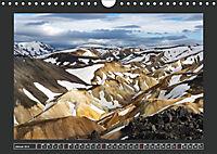 Landmannalaugur und weitere Highlights in Islands Hochland (Wandkalender 2019 DIN A4 quer) - Produktdetailbild 1