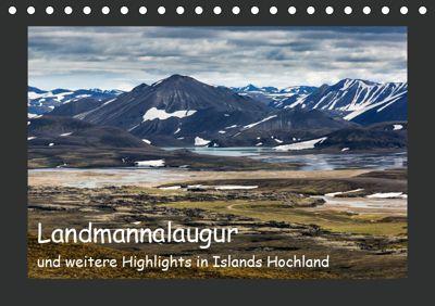 Landmannalaugur und weitere Highlights in Islands Hochland (Tischkalender 2019 DIN A5 quer), Herbert Redtenbacher
