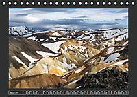 Landmannalaugur und weitere Highlights in Islands Hochland (Tischkalender 2019 DIN A5 quer) - Produktdetailbild 1