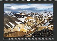 Landmannalaugur und weitere Highlights in Islands Hochland (Wandkalender 2019 DIN A3 quer) - Produktdetailbild 1