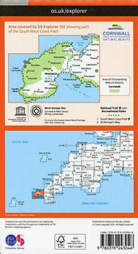 Land's End, Penzance and St Ives 1 : 25 000 - Produktdetailbild 1