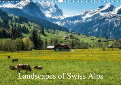 Landscapes of Swiss Alps (Wall Calendar 2019 DIN A3 Landscape), Alain Gaymard