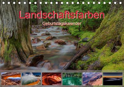 Landschaftsfarben - Geburtstagskalender (Tischkalender 2019 DIN A5 quer), Thomas Klinder