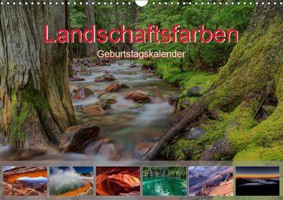 Landschaftsfarben - Geburtstagskalender (Wandkalender 2019 DIN A3 quer), Thomas Klinder