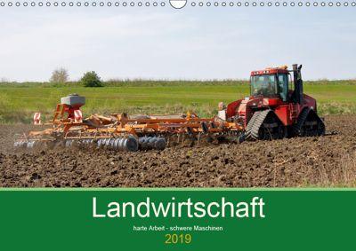 Landwirtschaft - harte Arbeit, schwere Maschinen (Wandkalender 2019 DIN A3 quer), Rolf Pötsch