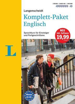 Langenscheidt Komplett-Paket Englisch - Sprachkurs mit 2 Büchern, 6 Audio-CDs, 1 DVD-ROM, MP3-Download, David Hilborne-Clarke, Peter Oldham