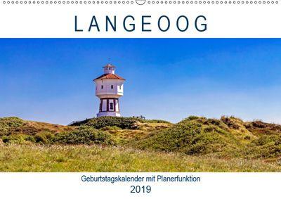 Langeoog Geburtstagskalender (Wandkalender 2019 DIN A2 quer), Andrea Dreegmeyer