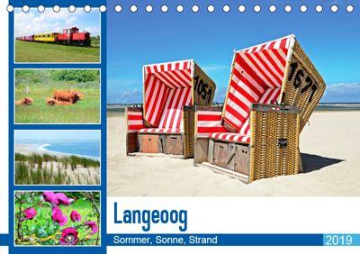 Langeoog - Sommer, Sonne, Strand (Tischkalender 2019 DIN A5 quer), Nina Schwarze