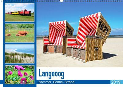 Langeoog - Sommer, Sonne, Strand (Wandkalender 2019 DIN A2 quer), Nina Schwarze