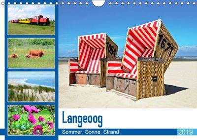 Langeoog - Sommer, Sonne, Strand (Wandkalender 2019 DIN A4 quer), Nina Schwarze