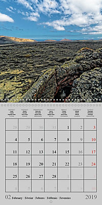 LANZAROTE Created by Volcanoes (Wall Calendar 2019 300 × 300 mm Square) - Produktdetailbild 2