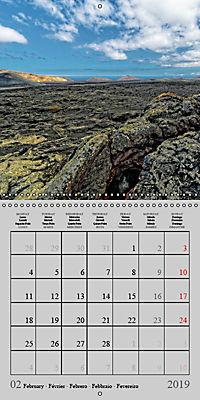 LANZAROTE Created by Volcanoes (Wall Calendar 2019 300 × 300 mm Square) - Produktdetailbild 2