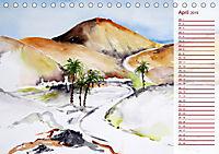 Lanzarote und Teneriffa - Aquarelle (Tischkalender 2019 DIN A5 quer) - Produktdetailbild 4