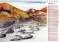 Lanzarote und Teneriffa - Aquarelle (Tischkalender 2019 DIN A5 quer) - Produktdetailbild 1