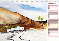 Lanzarote und Teneriffa - Aquarelle (Tischkalender 2019 DIN A5 quer) - Produktdetailbild 2