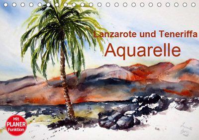 Lanzarote und Teneriffa - Aquarelle (Tischkalender 2019 DIN A5 quer), Brigitte Dürr