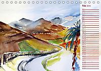 Lanzarote und Teneriffa - Aquarelle (Tischkalender 2019 DIN A5 quer) - Produktdetailbild 5