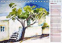 Lanzarote und Teneriffa - Aquarelle (Tischkalender 2019 DIN A5 quer) - Produktdetailbild 3