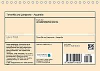 Lanzarote und Teneriffa - Aquarelle (Tischkalender 2019 DIN A5 quer) - Produktdetailbild 13