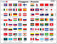 Larsen Puzzle Erde & Flaggen - Produktdetailbild 1