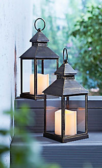 Laternen mit LED-Kerze, 2er-Set - Produktdetailbild 2