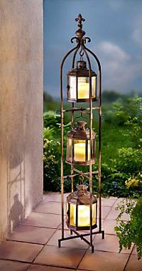 Laternen-Trio mit LED-Kerzen - Produktdetailbild 2