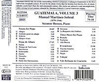 Latin-American Classics: Guatemala Vol. 3 (Martinez-Sobral) - Produktdetailbild 1