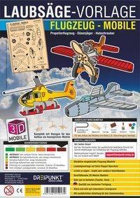 Laubsägevorlage Flugzeug-Mobile