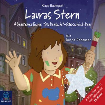 Lauras Stern - Tonspur der TV-Serie: Lauras Stern - Tonspur der TV-Serie, Teil 11: Abenteuerliche Gutenacht-Geschichten, Cornelia Neudert, Klaus Baumgart