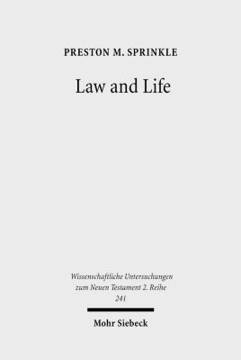 Law and Life, Preston Sprinkle