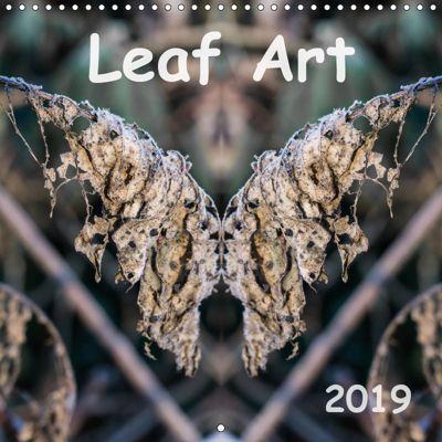 Leaf Art 2019 (Wall Calendar 2019 300 × 300 mm Square), Simon Hadleigh-Sparks