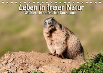Leben in freier Natur - Wildtiere in natürlicher Umgebung (Tischkalender 2019 DIN A5 quer), Georg Niederkofler