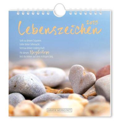 Lebenszeichen 2019, Postkartenkalender, Grafik Werkstatt