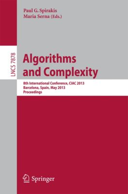 Lecture Notes in Computer Science: Algorithms and Complexity