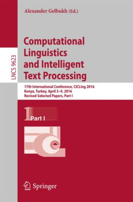 Lecture Notes in Computer Science: Computational Linguistics and Intelligent Text Processing