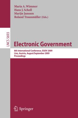 Lecture Notes in Computer Science: Electronic Government