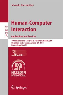 Lecture Notes in Computer Science: Human-Computer Interaction Applications and Services