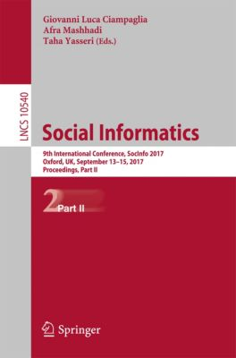 Lecture Notes in Computer Science: Social Informatics