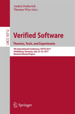Lecture Notes in Computer Science: Verified Software. Theories, Tools, and Experiments