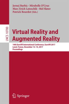 Lecture Notes in Computer Science: Virtual Reality and Augmented Reality