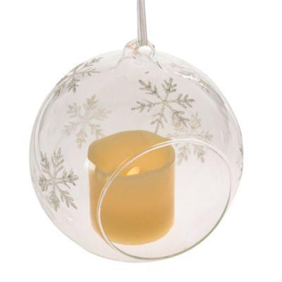 LED Deko-Glashänger Schneeflocke
